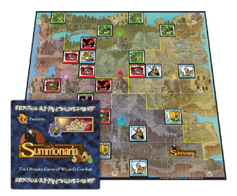 Summonaria is now available as a boardgame or online as a multiplayer turn based game!
